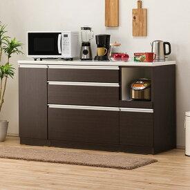 キッチンカウンター(レジューム 150QL-R DBR) ニトリ 【配送員設置】 【5年保証】