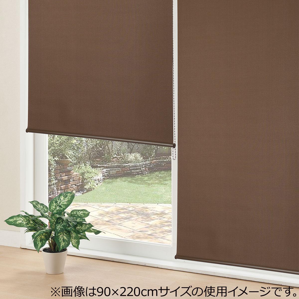 採光ロールスクリーン(アリエスDBR 165X220) ニトリ 【玄関先迄納品】