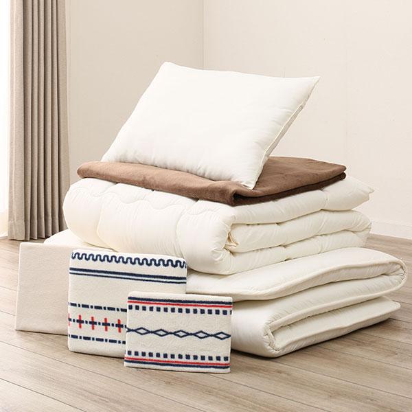 毛布付き寝具7点セット シングル(H BE S) ニトリ 【送料無料・玄関先迄納品】