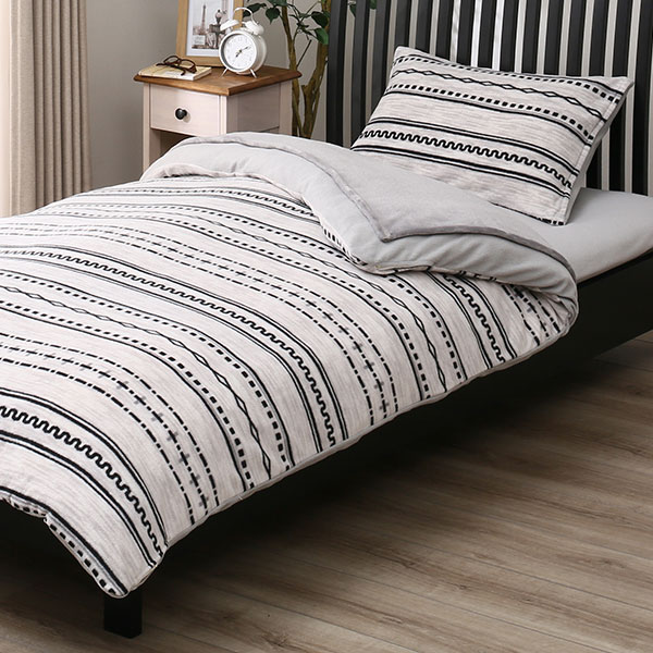 毛布付き寝具7点セット シングル(H GY S) ニトリ 【送料無料・玄関先迄納品】