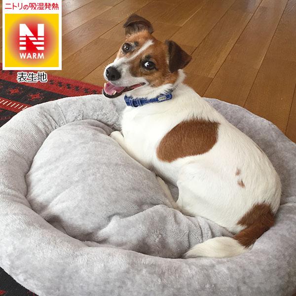 犬・猫用ペットベッド(NウォームH マル L GY) ニトリ 【玄関先迄納品】