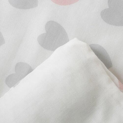 掛け布団カバー子ども用サイズ(ハートPI)ニトリ【玄関先迄納品】