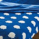 掛ふとんカバーにもなる毛布 シングル(ヘッジホグ BL T) ニトリ 【送料有料・玄関先迄納品】