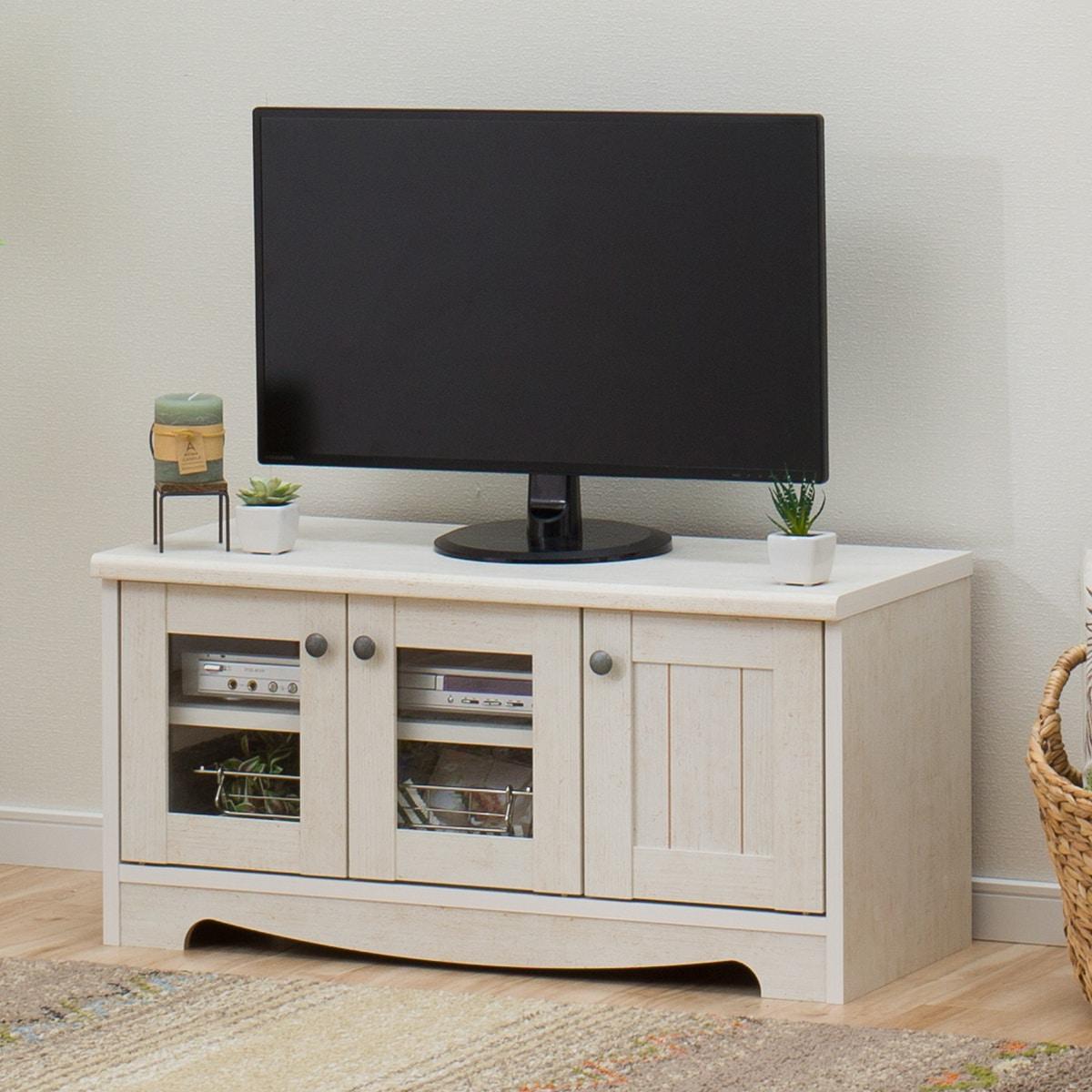 フレンチカントリー風TVボード(リズバレー SLM32V WH) ニトリ 【玄関先迄納品】 【1年保証】