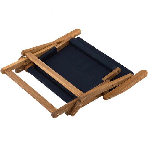 木製ローチェア(ネイビー)ニトリ【玄関先迄納品】