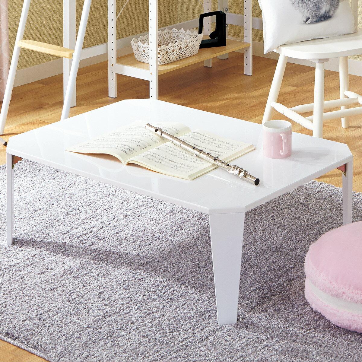 折りたたみテーブル シャイン 9060(WH) ニトリ 【玄関先迄納品】