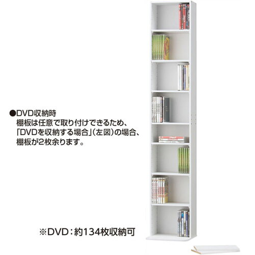 CD・DVDラックメイト(1830WH)ニトリ【玄関先迄納品】