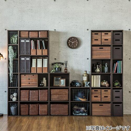カラーボックスカラボ3段(DBR)ニトリ【玄関先迄納品】
