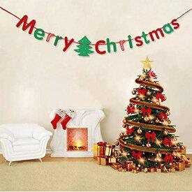 アルファベットガーランド Merry Christmas クリスマスパーティー デコレーション パーティー バナー アレンジ用 雑貨 飾り付け 単品 シンプル オシャレ 不織布 ガーランド