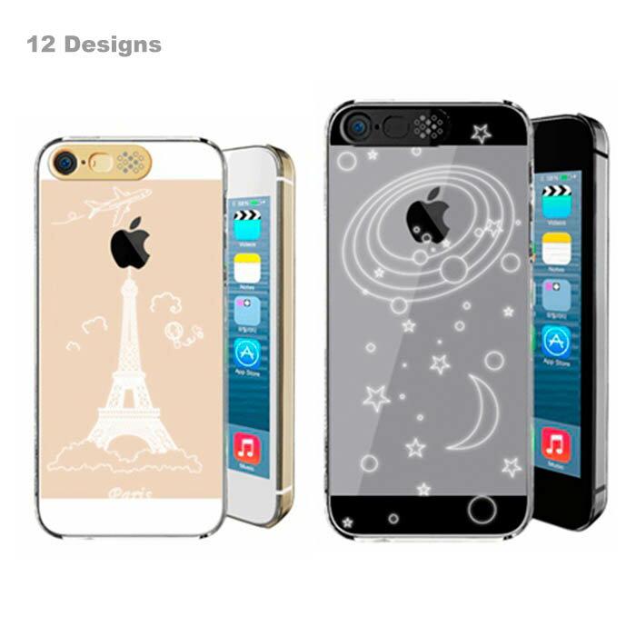 iPhone 6 iPhone 6 Plus iPhone SEケース アイフォンケース 光るケース クリアケース LEDフラッシュ通知 iPhone SE 5s ケース プラスチックケース 保護ケース 星 雪 ハート プリンセス どくろ エッフェル塔 キラキラ