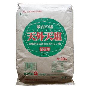 【 業務用 20g 】天外天塩 20kg イージーオープン 内モンゴル産岩塩 さらさら微粒 ミネラル まろやか うま味 無添加