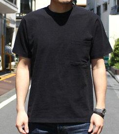 Goodwear グッドウェア USAコットン 無地ポケットT ブラック 黒 2W7-2500 S M L XL 半袖 Tシャツ シンプル 無地 肉厚 袖ロゴ おしゃれ SS