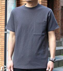 Goodwear グッドウェア USAコットン 無地ポケットT チャコール 2W7-2500 S M L XL 半袖 Tシャツ シンプル 無地 肉厚 袖ロゴ おしゃれ SS