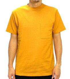 Goodwear グッドウェア USAコットン 無地ポケットT Sゴールド 2W7-2500 S M L XL 半袖 Tシャツ シンプル 無地 肉厚 袖ロゴ おしゃれ SS