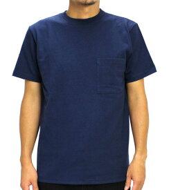 Goodwear グッドウェア USAコットン 無地ポケットT ネイビー 紺 2W7-2500 S M L XL 半袖 Tシャツ シンプル 無地 肉厚 袖ロゴ おしゃれ SS