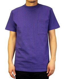 Goodwear グッドウェア USAコットン 無地ポケットT ラベンダー 2W7-2500 S M L XL 半袖 Tシャツ シンプル 無地 肉厚 袖ロゴ おしゃれ SS
