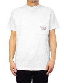 Goodwear グッドウェア OLDER MANポケットTシャツ ホワイト 白 半袖 2W7-4506 S M L XL Tシャツ バックプリント 肉厚 おしゃれ 返品交換不可 SS