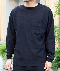 Goodwear グッドウェア USAコットン袖リブポケットロンT ブラック 黒 2W7-8518 S M L XL 長袖 Tシャツ 無地 胸ポケ 肉厚 袖口リブ おしゃれ SS