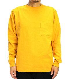 Goodwear グッドウェア USAコットン袖リブポケットロンT Sゴールド 2W7-8518 S M L XL 長袖 Tシャツ 無地 胸ポケ 肉厚 袖口リブ おしゃれ SS
