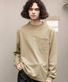 Goodwear グッドウェア USAコットン袖リブポケットロンT ベージュ 2W7-8518 S M L XL 長袖 Tシャツ 無地 胸ポケ 肉厚 袖口リブ おしゃれ