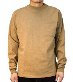 Goodwear グッドウェア USAコットン袖リブポケットロンT タン ベージュ 2W7-8518 S M L XL 長袖 Tシャツ 無地 胸ポケ 肉厚 袖口リブ おしゃれ SS