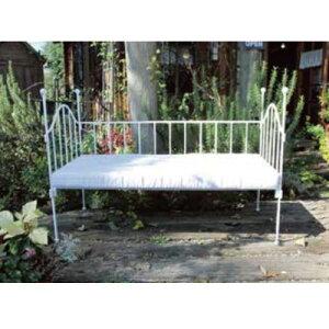 アイアンサークルベンチW(クッション付) 36462・70099 ジャービス商事[F-690] 【送料無料】 ガーデンテーブル ガーデンチェア ガーデンファニチャー