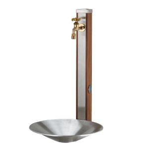 立水栓 水栓柱:ウォータースタンド・スプレスタンド70(蛇口1個セット)/シャインポットセット[W-222]【あす楽対応不可】【りっすいせん ステンレス製立水栓】【全品送料無料】