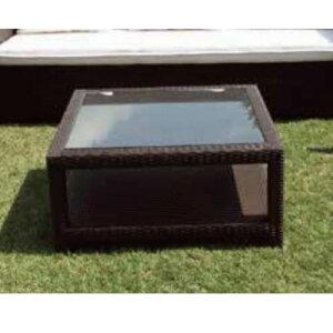 ガラスエンドテーブル NH-2050Z 38704 ジャービス商事[F-762] 【送料無料】 ガーデンテーブル ガーデンチェア ガーデンファニチャー