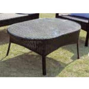 オーバルガラステーブル NH-2072-1Z 38715 ジャービス商事[F-765] 【送料無料】 ガーデンテーブル ガーデンチェア ガーデンファニチャー