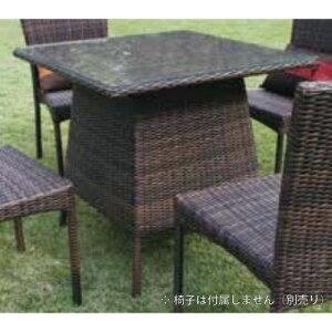 スクエアガラステーブル NH-2119Z 38707 ジャービス商事[F-769] 【送料無料】 ガーデンテーブル ガーデンチェア ガーデンファニチャー