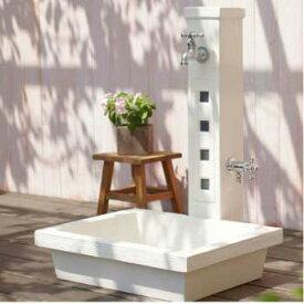 立水栓・水栓柱:アーバン2(パン/蛇口・補助蛇口付)[W-496]【あす楽対応不可】【全品送料無料】