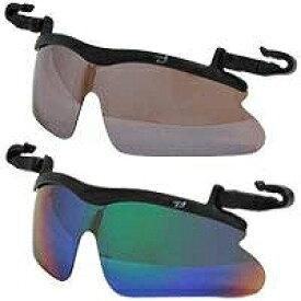 らくらく帽子掛け偏光レンズサングラス【送料無料】 キャップグラス 偏光サングラス ゴルフ UV カット