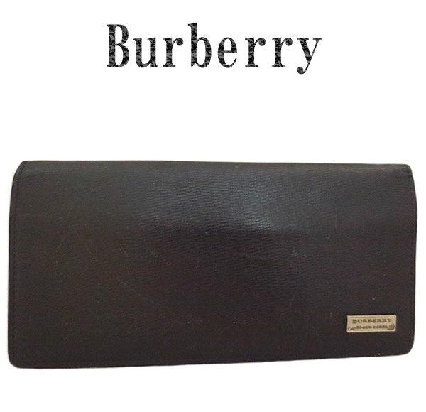 BURBERRY バーバリー レザー ブラックレーベル 札入れ長財布【中古】【虹商店】