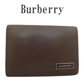 超美品 BURBERRY バーバリー レザー カード入れ 名刺入れ【中古】【虹商店】