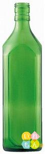 〈1本入〉720角グリーンびん/キャップ付【酒瓶 飲料瓶 ジュース瓶 ガラス瓶 ガラス保存容器 焼酎びん ボトル ワイン 酵素 梅酒 硝子瓶】かわいい 可愛い おしゃれ オシャレ スタイリッシュ