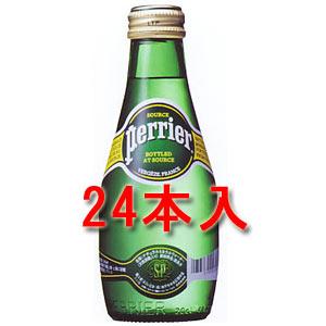 ペリエ(Perrier)  炭酸入りナチュラルミネラルウォーター 200ml 24本入り(正規輸入品) [ペリエ 水 ミネラルウォーター スパークリングウォーター 炭酸水] 瓶入り ビューティ