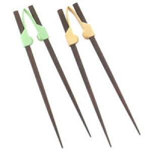 握力の弱い方でもお箸が使えます!【青芳】楽々箸(クリップタイプ) 食事介助箸 介護用品 食事用箸 A0378