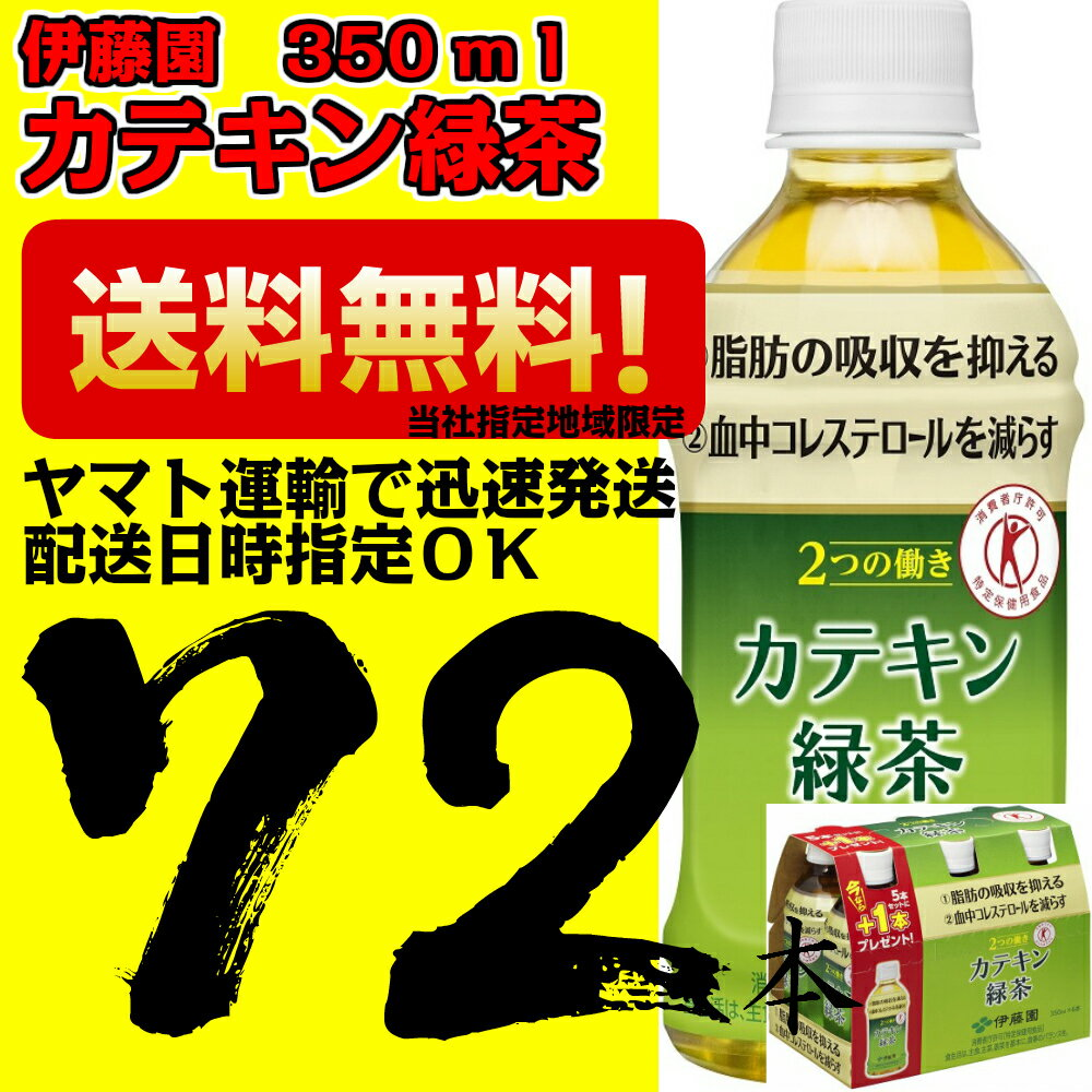 2つの働きカテキン緑茶 350ml×3ケース 72本 伊藤園【当社指定地域送料無料】