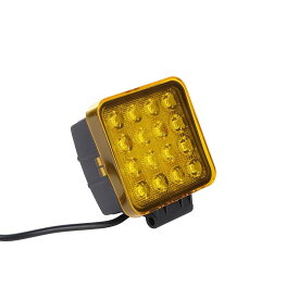 LED作業灯 27w四角 48w対応 イエローカバー 除雪機 乱反射 対策