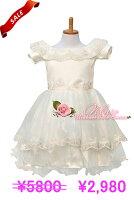 フラワーガール花刺繍子供ドレス
