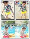 水着 女の子 3点 セット 長袖 ワンピース スイムウェア ベビー ベビー水着 水遊び着 ジュニア水着 子供 キッズ水着 おしゃれ かわいい…
