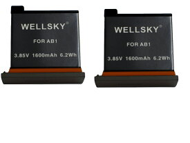 DJI OSAP01 Osmo Action Part 1 用 [ 2個セット ] 互換バッテリー AB1 1600mAh 純正品と同じよう使用可能