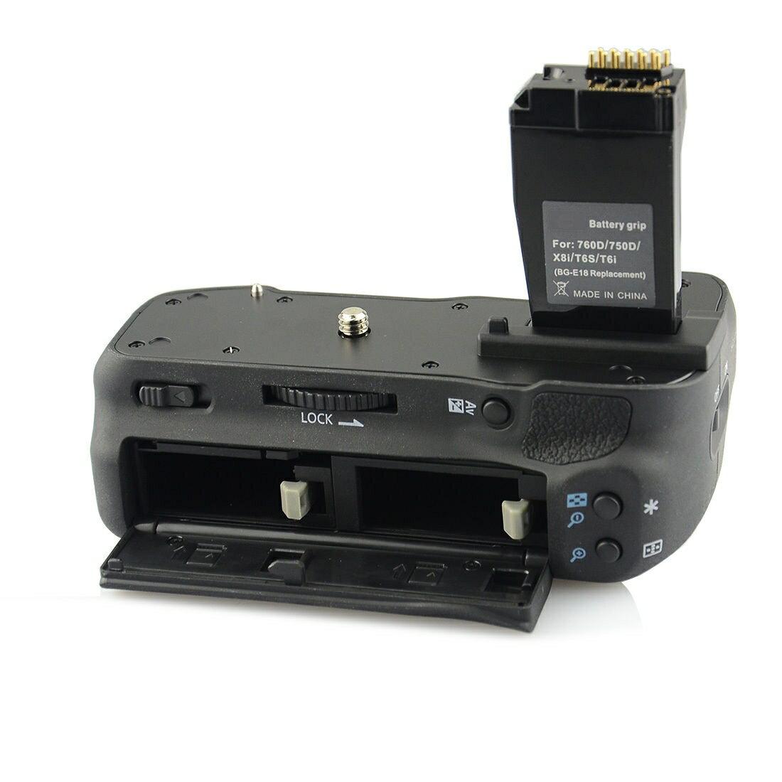 [ あす楽対応 ] [ Canon キヤノン LP-E17 対応 ] バッテリーグリップ 純正互換品 BG-E18 [ 純正 互換バッテリー に対応可能 ] イオス EOS 8000D / EOS Kiss X8i