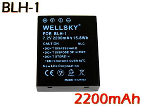 BLH-1 互換バッテリー 2200mAh [ 純正充電器で充電可能 残量表示可能 純正品と同じよう使用可能 ] OLYMPUS オリンパス OM-D E-M1 Mark II E-M1 Mark III BCH-1