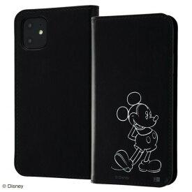 ディズニー キャラクター ミッキー [ iPhone 11 ] ICカード 収納ポケット ホットスタンプ 耐衝撃 ストラップホール レイ・アウト