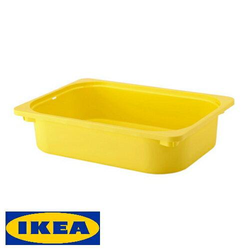 IKEA TROFAST 収納ボックス 42x30x10cmイケア トロファスト おもちゃ 収納 ボックス イエロー子ども用 お片づけ コンビネーション DUKTIG ボックス【smtb-ms】10308004