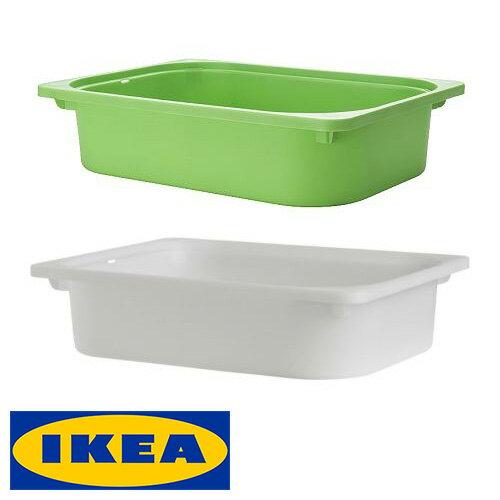 IKEA TROFAST 収納ボックス 42x30x10cm イケア トロファスト おもちゃ 収納ボックス ホワイト グリーン子ども用 お片づけ コンビネーション DUKTIG ボックス【smtb-ms】00141670 20141669