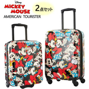 2020 レッドアメリカンツーリスター スーツケース 2点セットディズニー 2PC 45.7cm 50.8cmAmerican Tourister DisneyHardside Carry-On Set Mickey Mouseミッキーマウス キャリー キャリーケース旅行1365401-r