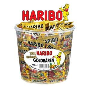 【訳あり】202103HARIBO ハリボーグミ ミニ ゴールドベア ドラム 980g おやつ グミ キャンディー Gold Baren 濃縮還元果汁 個包装 100袋 6種類 フルーツグミ グミキャンディ ドイツ 【smtb-ms】0578642