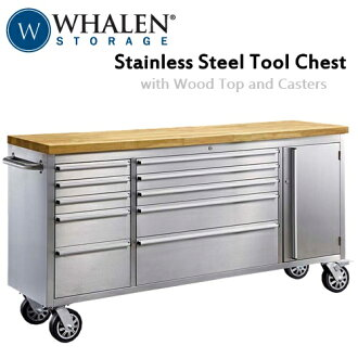 有WHALEN不锈钢工具胸沃仑Stainless Steel Tool Chest工作胸宽183*纵深49*高95cm钥匙的机壳车库厨房岛柜台0496675